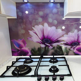 Стеклянные панели для кухни с фотопечатью