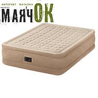 Двухспальная надувная кровать Intex 64458, 203-152-46см, со встроенным насосом 220V