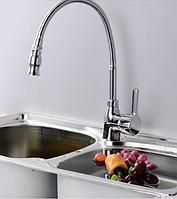 Смеситель для кухни с гибким носом 1-074, фото 1