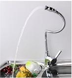 Смеситель для кухни с гибким носом 1-074, фото 3