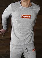 Мужская кофта с длинным рукавом Supreme Grey (реплика)