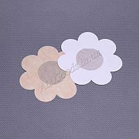 Наклейки одноразовые на грудь. 5 пар/уп. Цветок