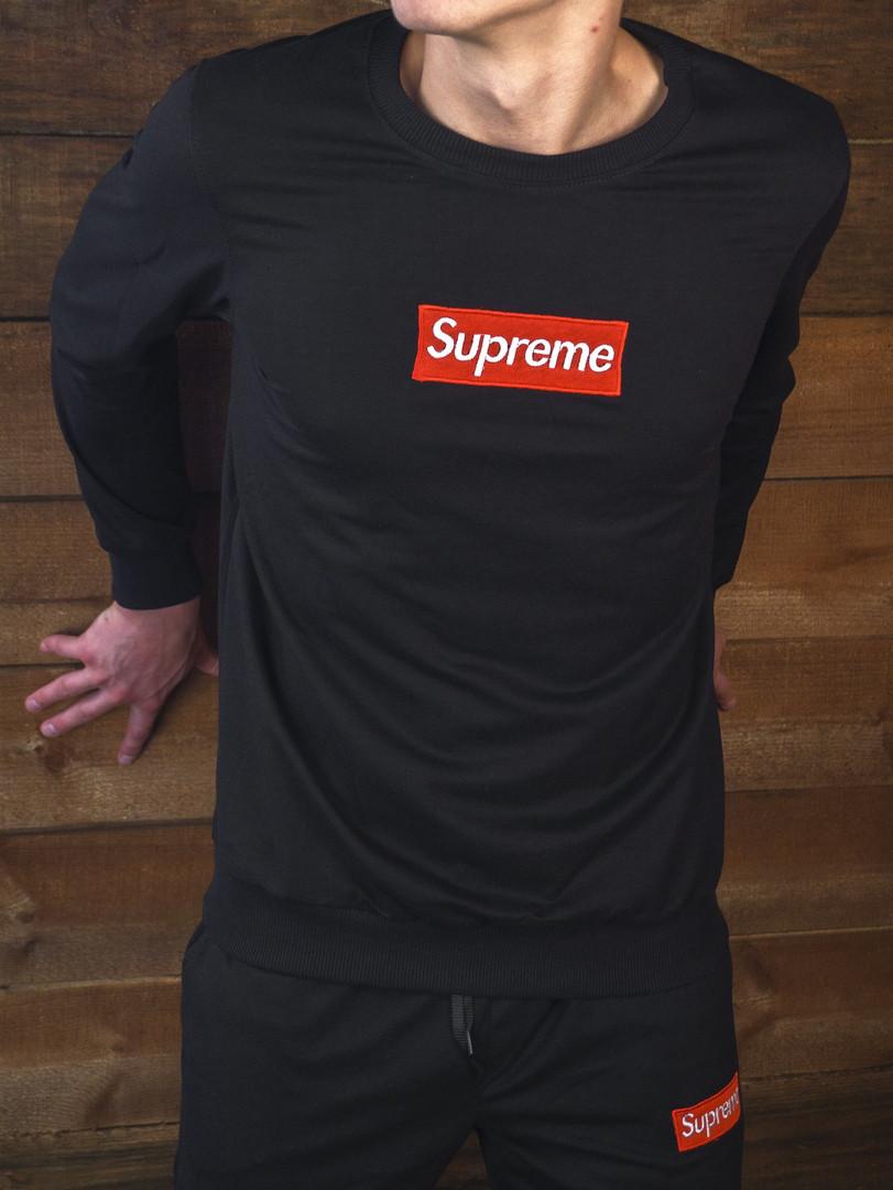 c1aed982b8c1 Мужская осеняя кофта свитшот Supreme black (реплика) - купить по лучшей  цене в Днепре от ...