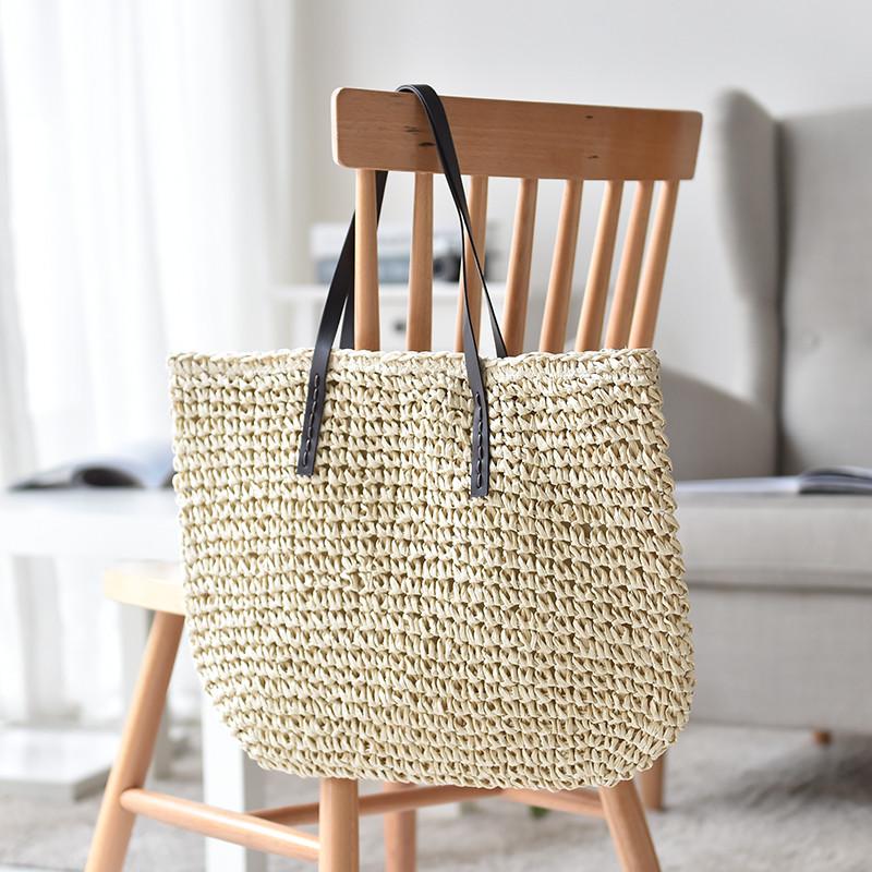 79a22c05084b Женская летняя пляжная плетеная сумка бежевого цвета: продажа, цена ...