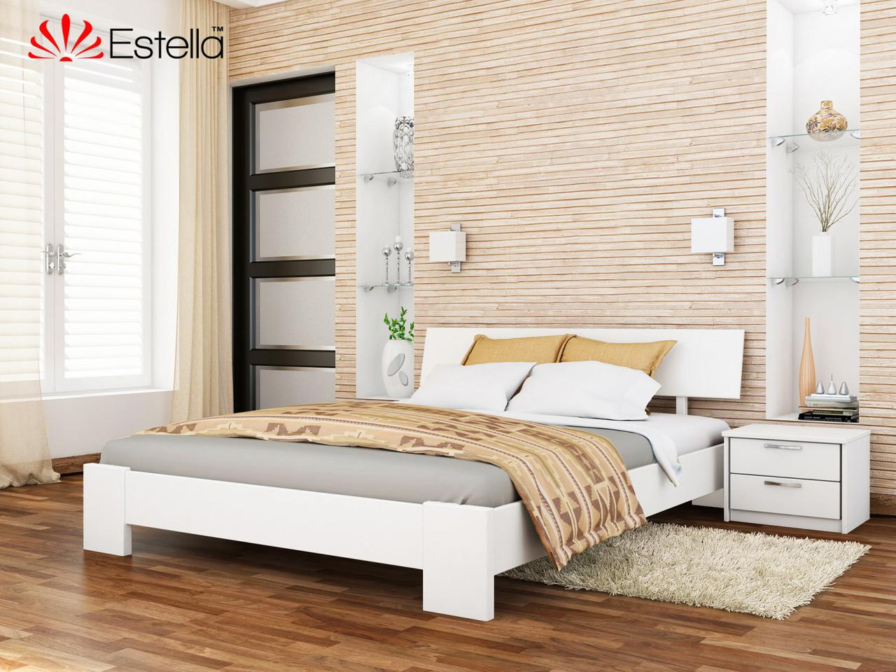 Дерев'яне ліжко Титан (білий)