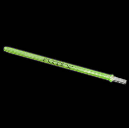 Скляний мундштук AMY Deluxe 145 зелений, фото 2