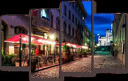 Модульная картина Вечерняя улица