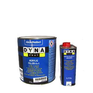 Акционный комплект!!! Грунт автомобильный Dyna Coat Filler 4+1 3л + ОТВЕРДИТЕЛЬ
