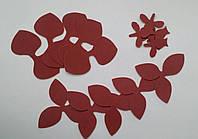 Вырубка орхидеи 013 бордовый иранский фоамиран