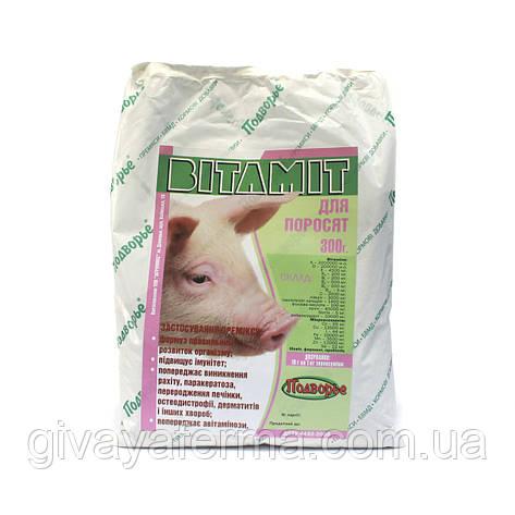 Витаминный премикс Витамит - поросенок 1%, 300 г, витаминно минеральная добавка к корму, фото 2