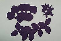 Вырубка орхидеи 033 индиго иранский фоамиран