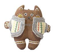 """Кіт у вишитому кожушку """"Грубасик"""" (синтепон)"""