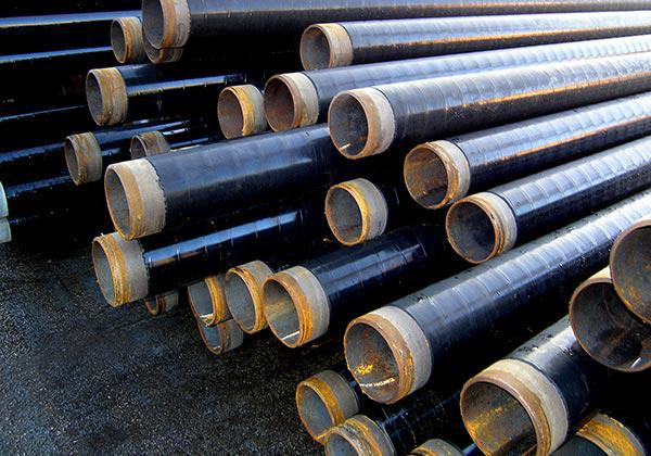 Трубы стальные в битумно-полимерной гидроизоляции