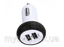 Автомобильное заряное устройство с двумя  USB  для iPhone