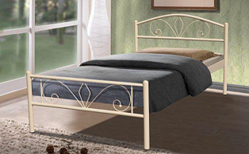 Односпальная металлическая кровать 900х2000 Релакс