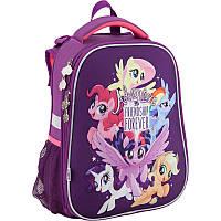 Набор школьный каркасный рюкзак kite lp18-531m little pony для девочки с пеналом