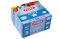 Набор кастрюль Pyrex Essentials, 3 предмета 912S637