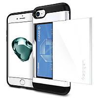 Чехол Spigen для iPhone 8 / 7 Slim Armor CS , Jet White, фото 1
