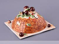 Блюдо для блинов с крышкой Lefard Грибная поляна 25х25 см 58-731