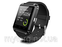 Спортивные Bluetooth часы  Smartwatch U8  Черный