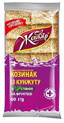 """""""Жайвір"""" Козинак із кунжуту на фруктозі зі стевією 60г, фото 2"""
