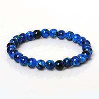 Синий браслет с бусинками
