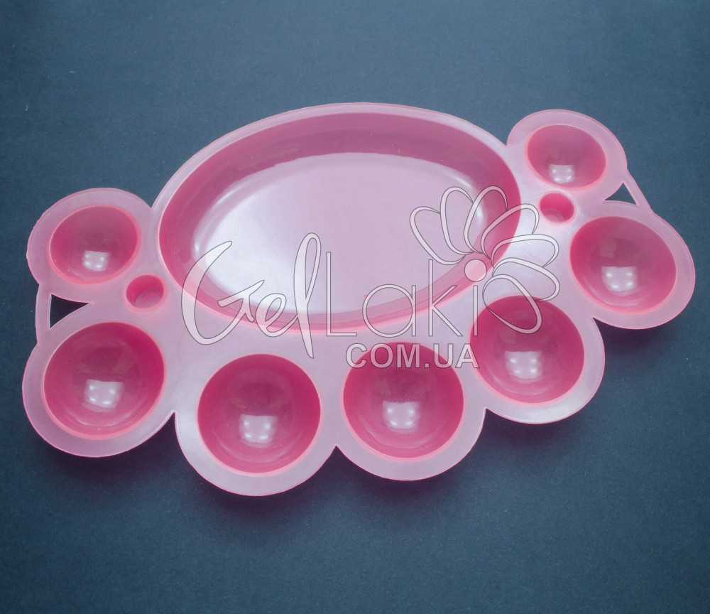 Палитра для смешивания гель красок (розовая)