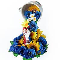 Топиарий парящая чашка Квітуча Україна Украинский сувенир в подарок