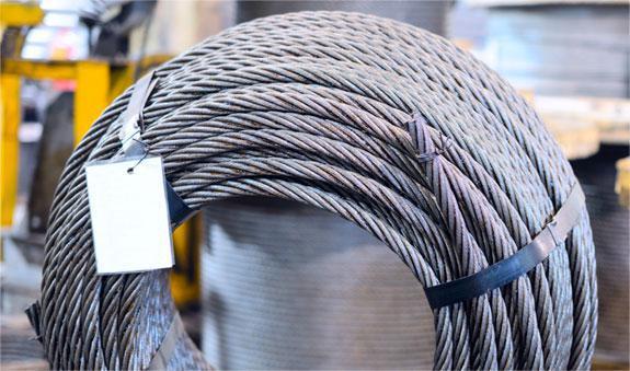 Канат оцинкований діаметром 7 мм по ISO 2408