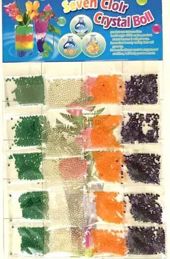 Гидрогель №28 цветной прозрачный 20 пачек