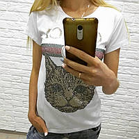 Модна футболка Gucci з кішкою, з котом, M