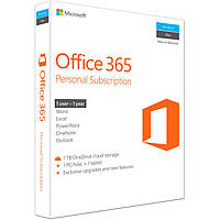 Microsoft Office 365 Personal 1 User 1 Year Subscription English Medialess P2 BOX (QQ2-00597)