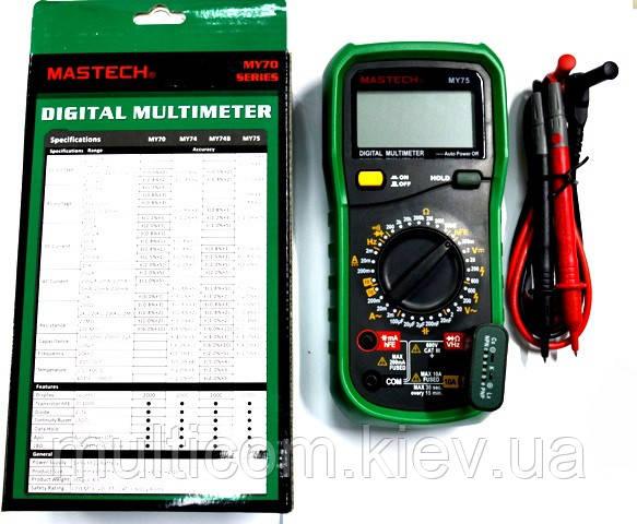 12-13-19. Цифровой мультиметр Mastech MY75 - Multicom - развиваем дилерскую сеть по Украине в Киеве
