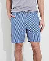 """Мужские синие шорты в полоску """"beach prep fit"""" Hollister, фото 1"""