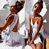 Сарафан Летнийсо вставками кружева, открытая спинка. Цвет  белые, пудра, чёрные и сероголубой. (9020), фото 8