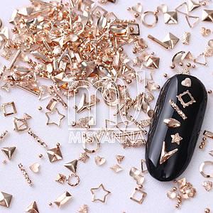 Заклепки металлические Starlet Professional ST2, микс фигурок красное золото