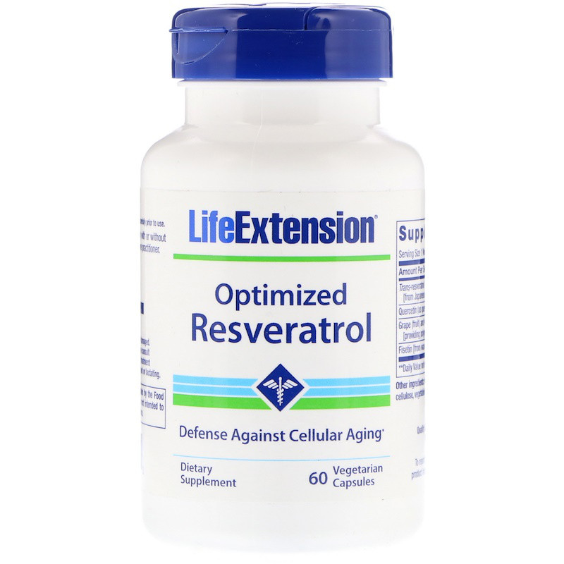 Life Extension, Optimized Resveratrol, 60 Vegetarian Capsules