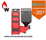 Пеллетный  котел METAL-FACH SOKOL SD DUO BIO-34 кВт (до 340 м2) Польша, фото 1