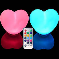 Набор водонепроницаемых светодиодных светильников HEART87W на батарейках с пультом ДУ