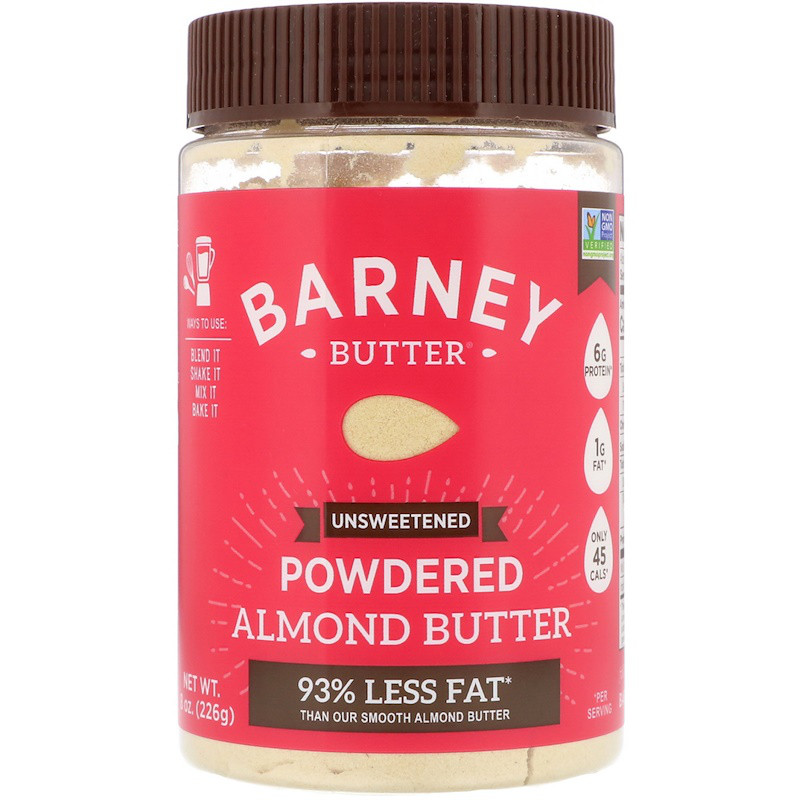 Barney Butter, Powdered Almond Butter, Unsweetened, 8 oz (226g)