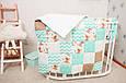 Бортики в кроватку «Бирюзовые мишки Тэдди» , фото 6