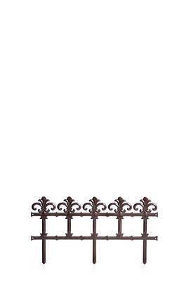 Комплект садовой ограды GARDEN - коричневый, 3,7 м, фото 2
