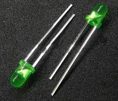 Светодиод 3мм зеленый
