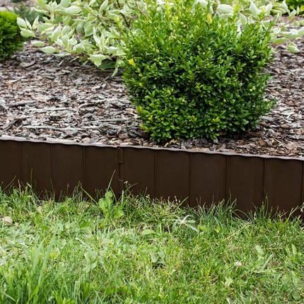 Комплект садовой ограды GARDEN FENCE коричневый, 5,9 м, фото 2