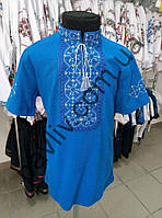 Футболка вышиванкая для мальчика Іванко голубая  3голФ1Га238а9