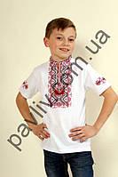 Футболка вышиванкая для мальчика Іванко белая  3білФ1Га1238а9