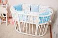 Комплект бортиков «Голубенькие мишки» в кроватку Baby-Sleep, фото 3