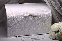 Коробка для сбора денег Jewel (белый с серебром)