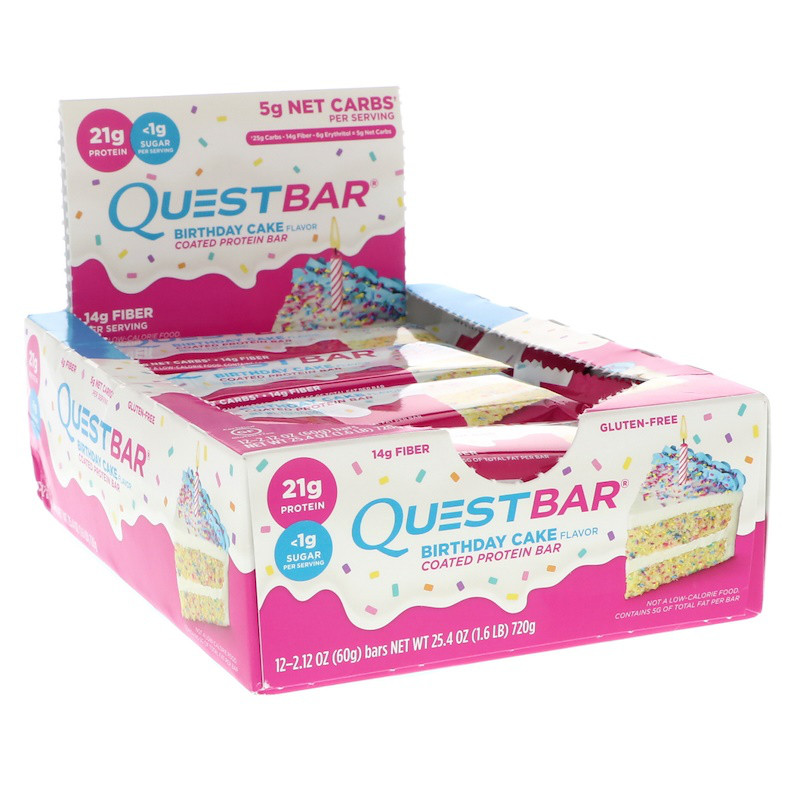 Quest Bar Birthday Cake.Kupit Quest Nutrition Coated Protein Bar Birthday Cake 12 Pack 2 12 Oz 60 G Each V Kieve Cena I Otzyvy Vitamins In Ua