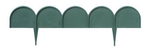 Комплект садовой ограды GARDEN LINE темно-зеленый, 10 м, фото 2